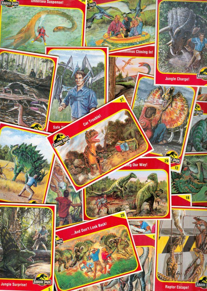 JURASSIC PARK trading cards