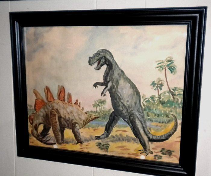 Sinkovits-Ceratosaurus-Stegosaurus-watercolor